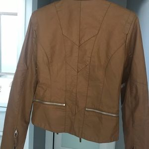 Leather tan jacket